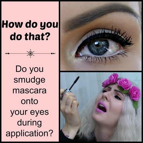 where do you put your makeup on how to apply mascara no smudging top bottom lashes
