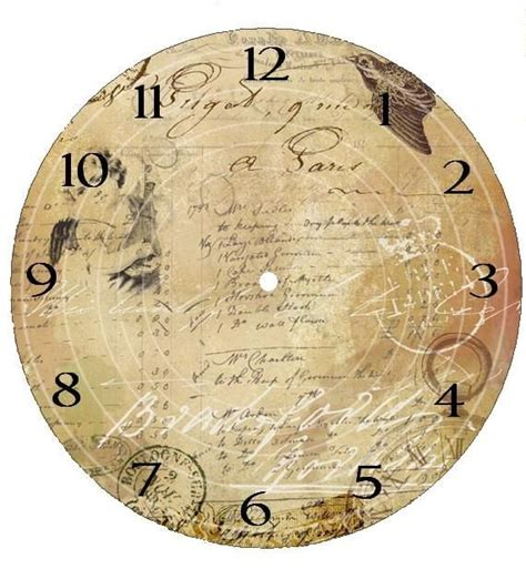 printable antique clock faces printable clock face i wonder how this will look with
