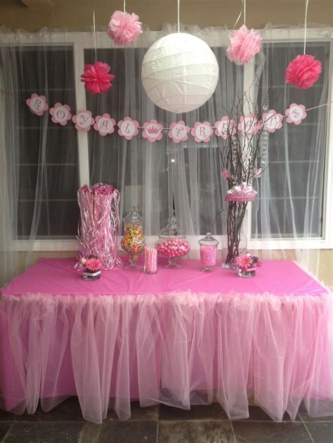 baby bathroom ideas princess theme baby shower royal treats table in case