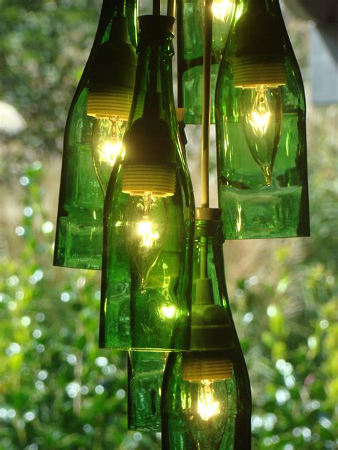 Recycled Wine Bottle Chandelier Junk With Funk Wine Bottle Chandeliers Centerpieces Wall Vases Window Panels