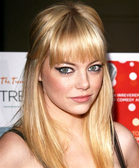 emma stone forehead emma stone round gorgeous bangs for every face shape