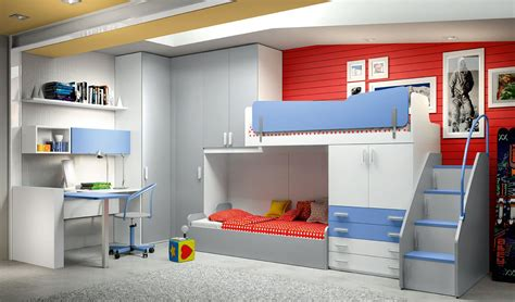 Purple And Blue Bedroom eresem equipped overhead wardrobes baby and kids bunk