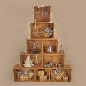 Supérieur Mini Sapin De Noel Naturel #5: sapin-Noel-original-pyramide-caisses-bois-déco-chic.jpg