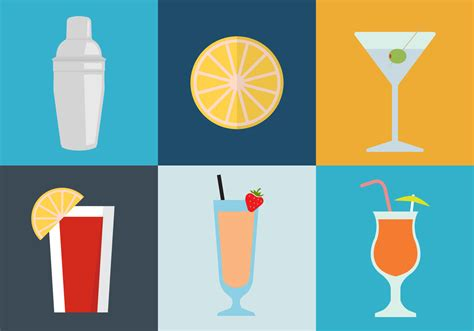 cocktail icon vector cocktail icons free vector stock graphics
