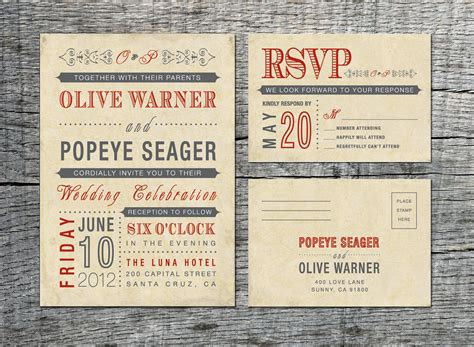 vintage wedding invitation rsvp card old by