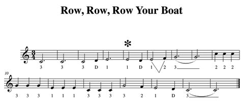 row your boat violin playing in a round music for violin