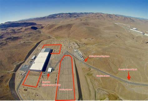 Tesla Giga Factory Photos Preparations For Tesla S Gigafactory Event Are