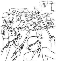 Joshua 7 Coloring Pages by Joshua And Jericho Coloring Pages The Story Lesson 7