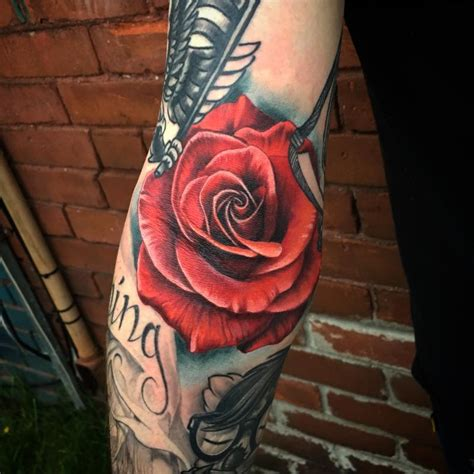 tattoo ditch pain rose in the ditch by gabriel londis tattoonow