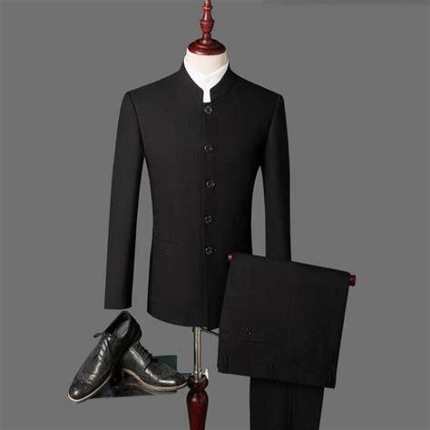 New 2018 arrival Men's suits Black latest coat pant