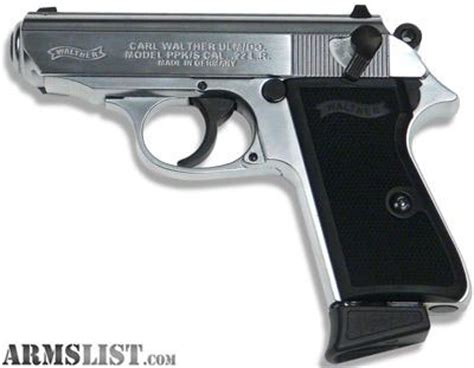 Walther Ppk S 22lr Nickel armslist for sale walther ppk s 22lr nickel 22