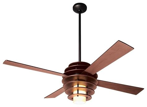 contemporary ceiling fan with light 52 quot modern fan stella mahogany bronze ceiling fan with