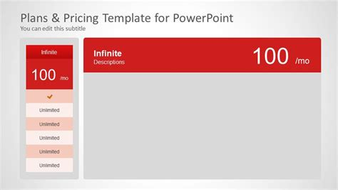 Plans Pricing Template For Powerpoint Slidemodel Pricing Options Template