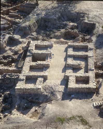 Bc Tel Lookup Hazor Tel 10th Century Bc Multi Chambered Solomonic Gate Aerial View Israel