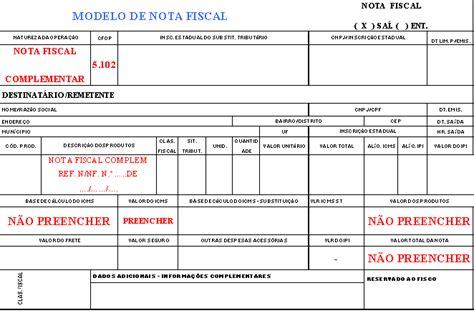 layout nf e complementar sitecontabil cancelamento de notas fiscais