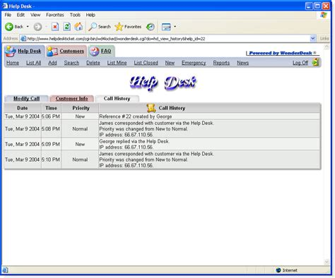 Free Help Desk Call Log Software Dugget