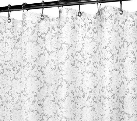 2 in 1 shower curtain watershed 2 in 1 victorian lace 72x72 shower curtain