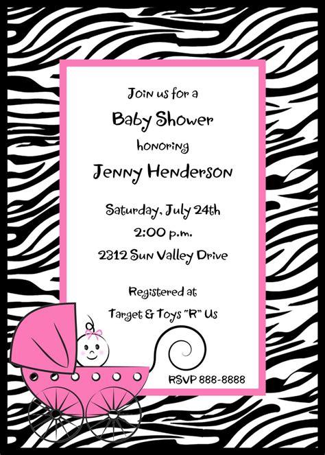 Printable Zebra Baby Shower Invitations | zebra print baby shower invitations by pmcinvitations on etsy