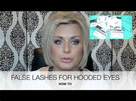 eyelash extensions for mature woman hooded mature eyes false lashes tips youtube