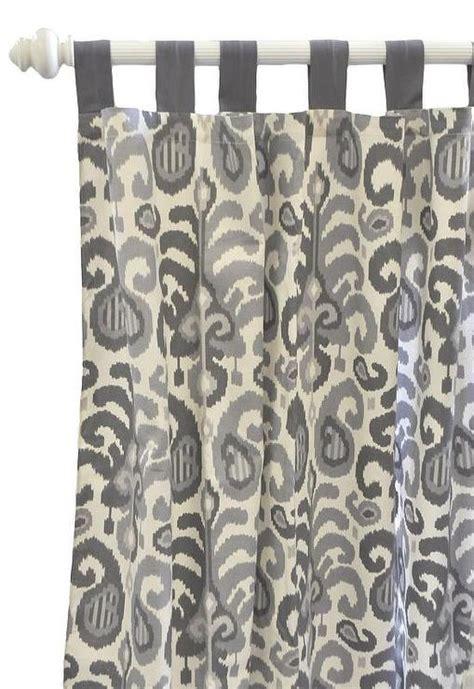 ikat curtains gray ikat curtain panels