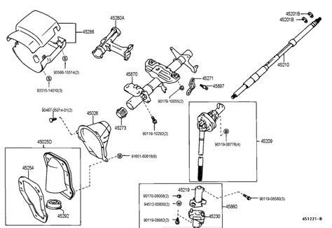 Parts For Toyota Tacoma 2001 Toyota Tacoma Steering Column Shaft