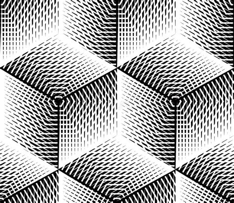 design pattern net interview questions black and white illusive abstract geometric seamless 3d