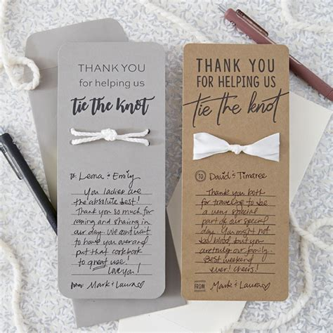 when should wedding thank yous go out these diy quot tie the knot quot wedding thank you cards are the