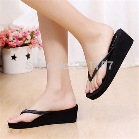 Block Heels Black White Sepatu Wanita Heels wedges sandales