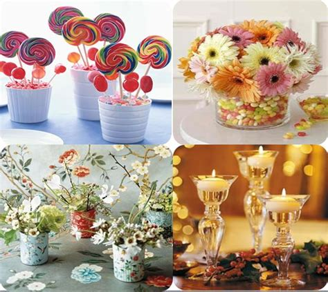 home made wedding decorations homemade wedding centerpieces ideas