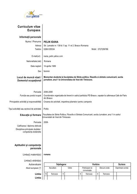 Fresh Essays , example of cv europass