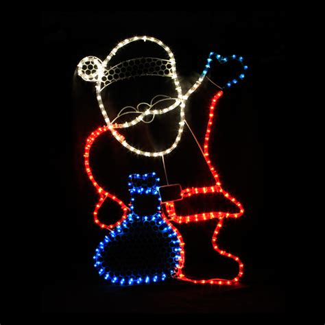 waving santa lights waving santa festive lights lights for all occasions