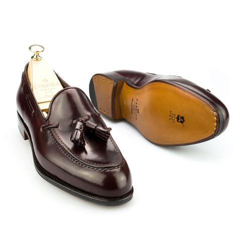 cordovan tassel loafers cordovan burgundy dress loafers carmina shoemaker