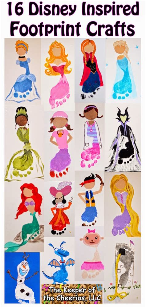 disney inspired crafts and activities for kids family the best hand and footprint art ideas kitchen fun with