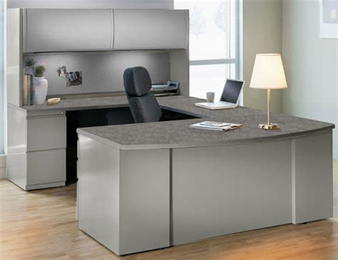 Home Computer Desks With Hutch Steel And Laminate Desk Series In Stock