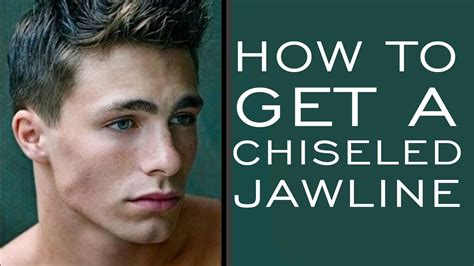 men haircut to make strong jaw how to have a chiseled jawline 5 tips for stronger