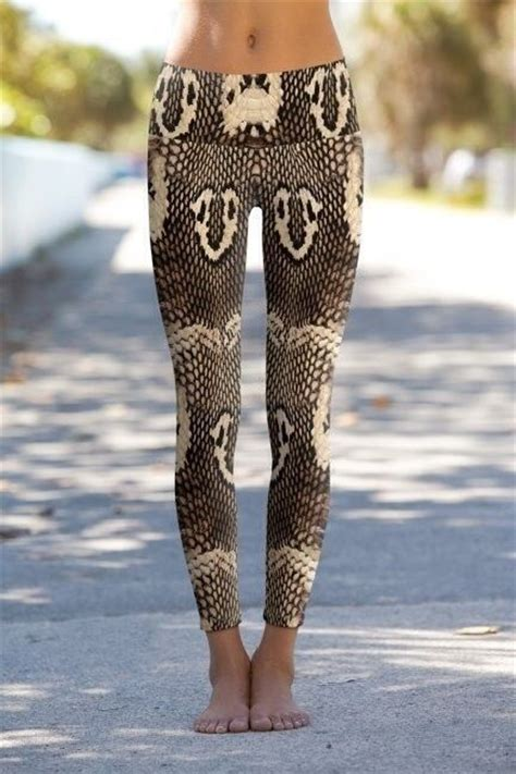 Snakeskin Pattern Yoga Pants | cobra snake skin yoga pants printed performance leggings