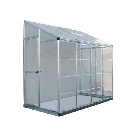 grow ls home depot palram 8 ft x 4 ft lean to grow house hybrid in silver