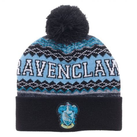 harry potter knit hat harry potter ravenclaw cuff pom beanie knit cap hat