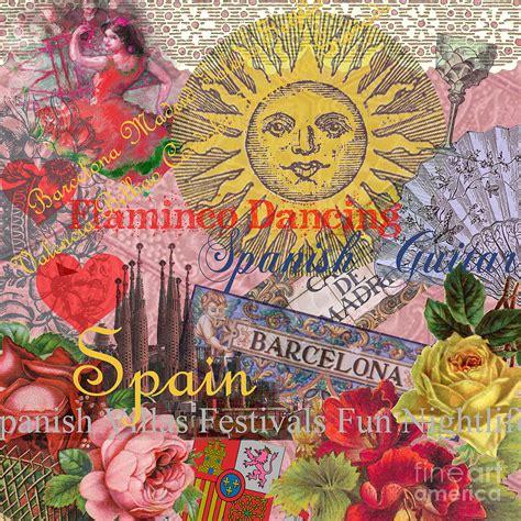 mary hubley s power of paintings antique art blog spain vintage trendy spain travel collage digital art by