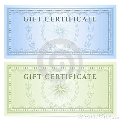 money gift certificate template gift certificate voucher template with pattern royalty