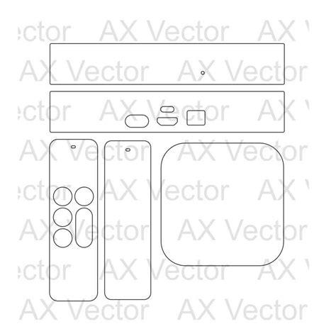 Apple Tv 4th Gen Vector Template Echo Skin Template