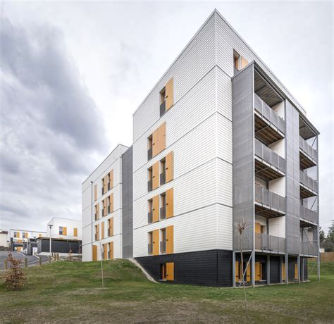 housing apartments gallery of 60 social housing apartments in rive de gier tectoniques architects 1