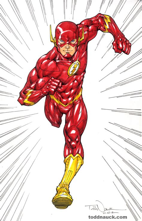 color flash justice league the of todd nauck