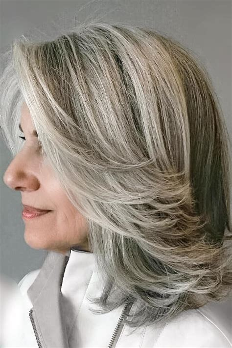 lots of layers fo short hair amazing gray hairstyles we love southern living