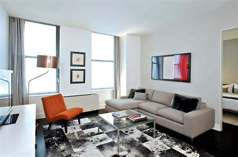 design an apartment modern rental apartment living room seating furniture design 25 broad financial district nyc