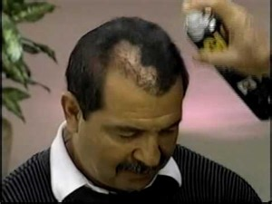 popeil hair spray 1990 s infomercial hell 19 spray paint the bald away