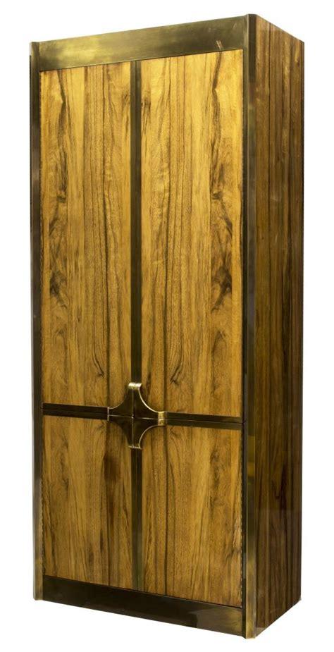 Mastercraft Brass Rosewood Four Door Cabinet Luxury Mastercraft Cabinet Doors