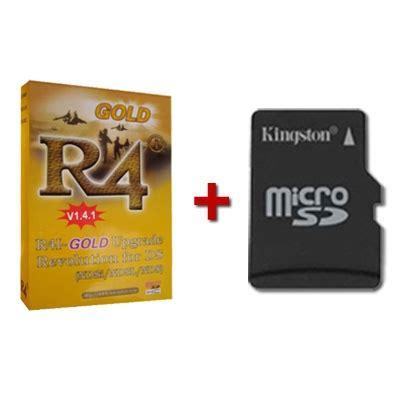 r4i gold flash cart *genuine* + microsd card + boot and