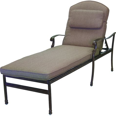 Patio Chaise Lounges by Darlee Florence Cast Aluminum Patio Chaise Lounge