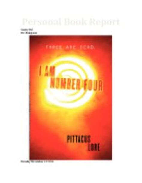 i am number four book report book report quot i am number 4 quot by frey and jobie